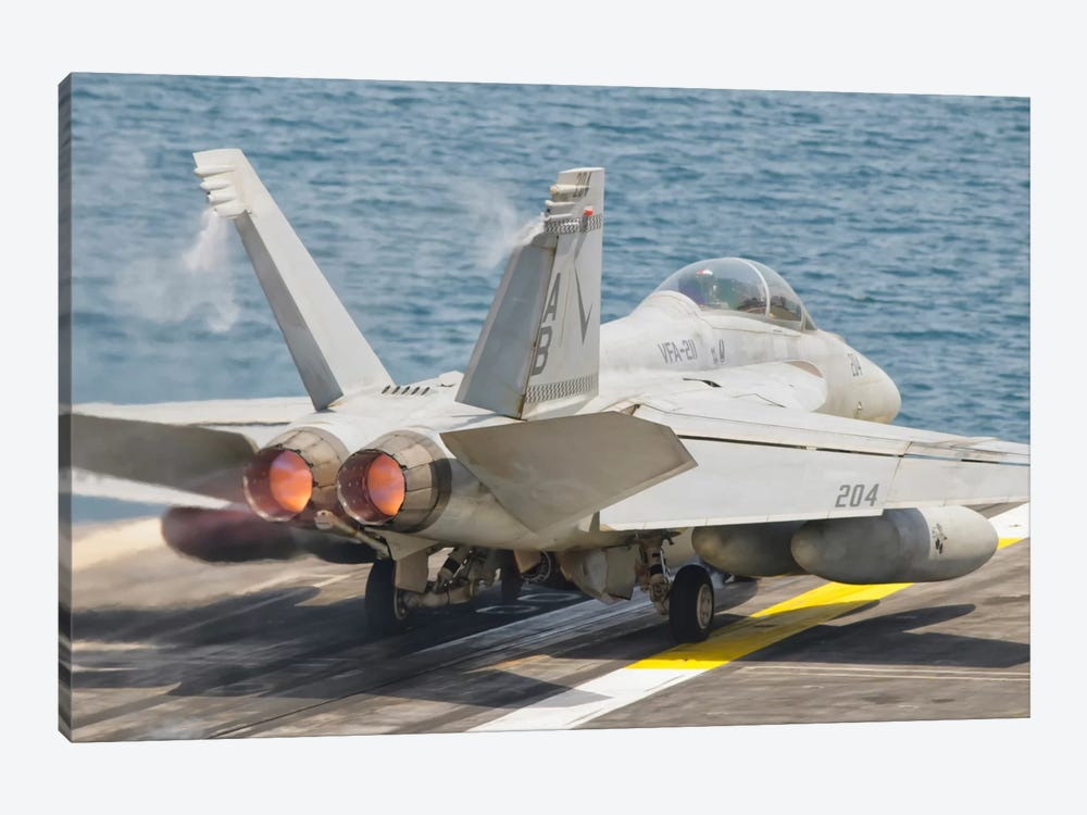 An F/A-18F Super Hornet Taking Off by Giovanni Colla 1-piece Art Print
