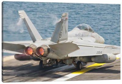 An F/A-18F Super Hornet Taking Off Canvas Art Print