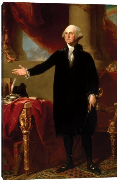 Restored Lansdowne Portrait Of President George Washington Canvas Art Print