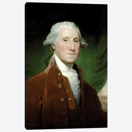 Restored Vector Painting Of George Washington Canvas Print #TRK2796} by John Parrot Art Print