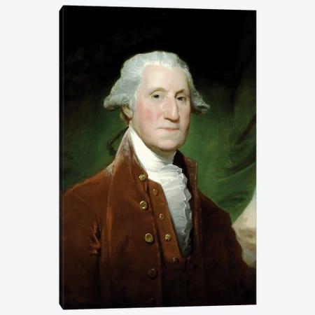 Restored Vector Painting Of George Washington Canvas Print #TRK2796} by John Parrot Art Print