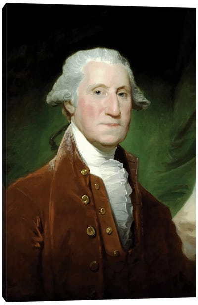Restored Vector Painting Of George Washington Canvas Art Print
