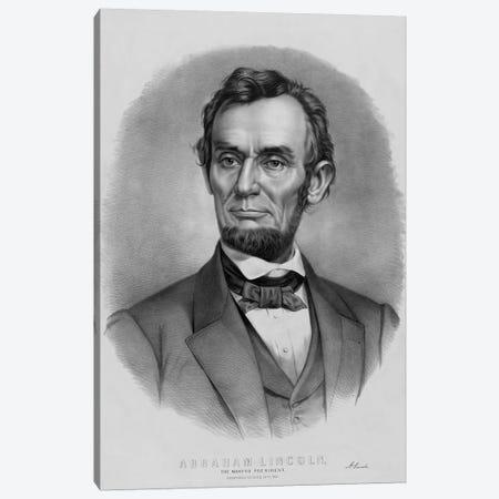 Restored Vintage Abraham Lincoln Print Canvas Print #TRK2799} by John Parrot Canvas Wall Art