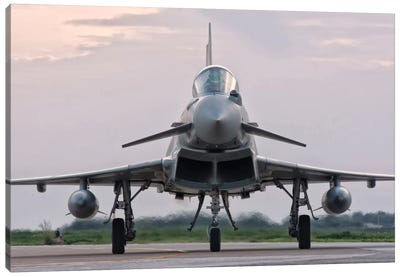 An Italian Air Force F-2000 Typhoon Aircraft Canvas Art Print