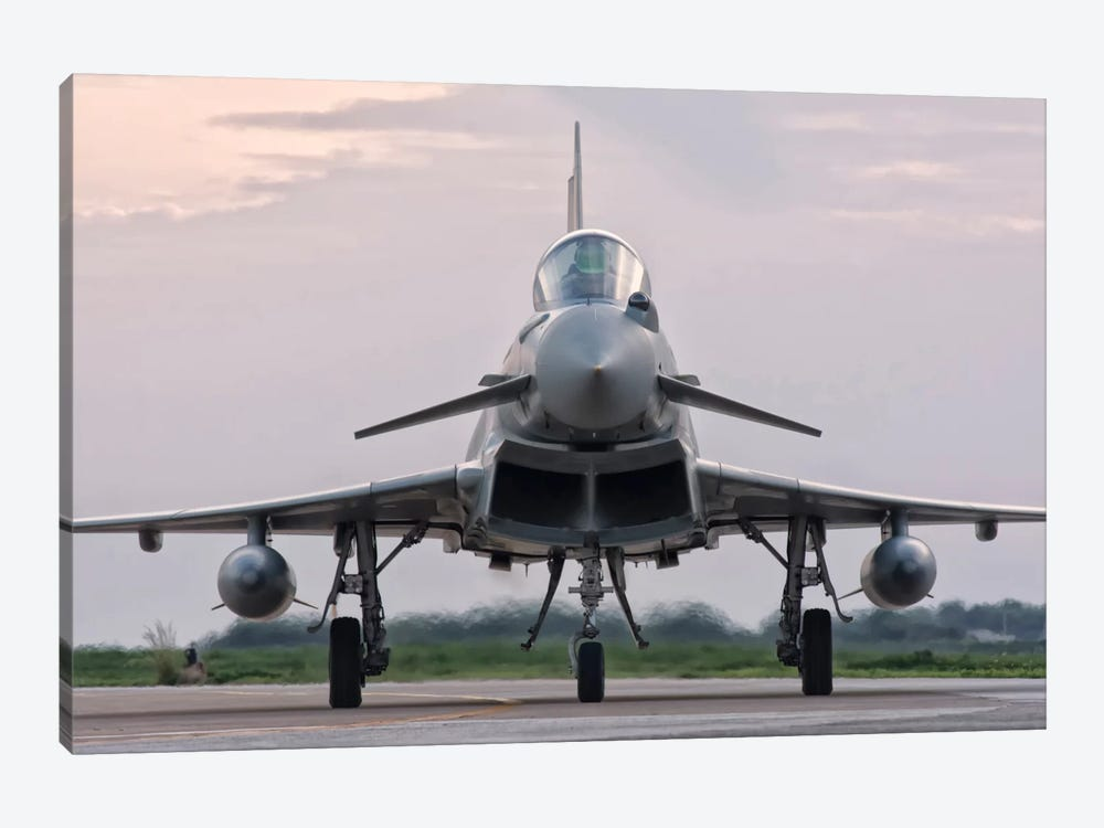 An Italian Air Force F-2000 Typhoon Aircraft by Giovanni Colla 1-piece Canvas Artwork