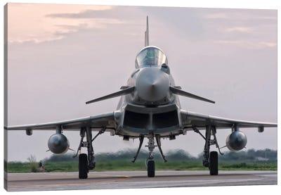 An Italian Air Force F-2000 Typhoon Aircraft Canvas Art Print