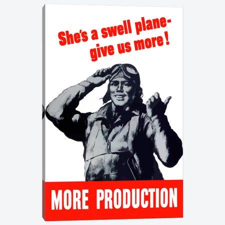 More Production Vintage Wartime Poster Canvas Print #TRK27} by John Parrot Canvas Art Print
