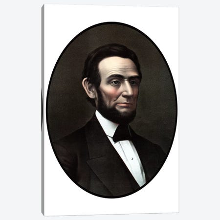 Restored Vintage Civil War Era Artwork Of President Abraham Lincoln Canvas Print #TRK2800} by John Parrot Canvas Art