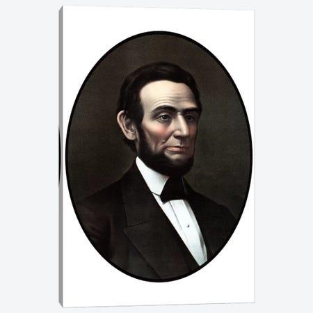 Restored Vintage Civil War Era Artwork Of President Abraham Lincoln Canvas Print #TRK2800} by John Parrot Canvas Art