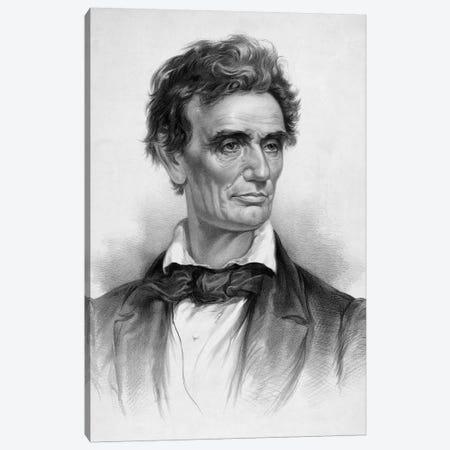 Restored Vintage Print Of A Young Abraham Lincoln Canvas Print #TRK2803} by John Parrot Canvas Artwork