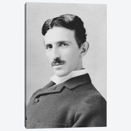 Inventor And Scientist Nikola Tesla Circa 1890 Canvas Print #TRK2805} by John Parrot Canvas Art Print