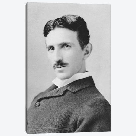 Inventor And Scientist Nikola Tesla Circa 1890 Canvas Print #TRK2805} by John Parrot Canvas Art Print