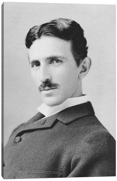 Inventor And Scientist Nikola Tesla Circa 1890 Canvas Art Print