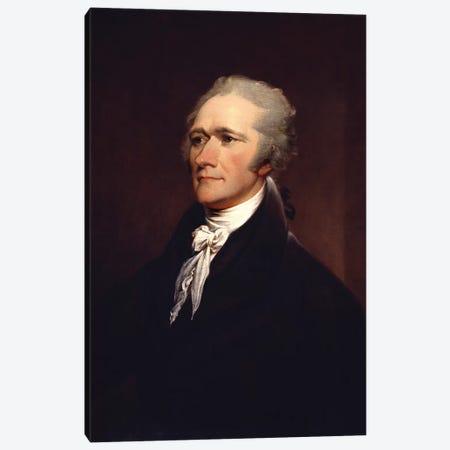Painting Of Founding Father Alexander Hamilton Canvas Print #TRK2806} by John Parrot Art Print