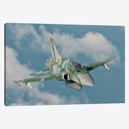 Brazilian Air Force F-5 In Flight Over Brazil Canvas Print #TRK280} by Giovanni Colla Art Print