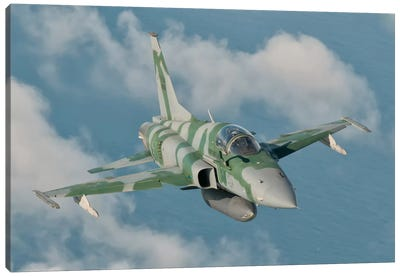 Brazilian Air Force F-5 In Flight Over Brazil Canvas Art Print
