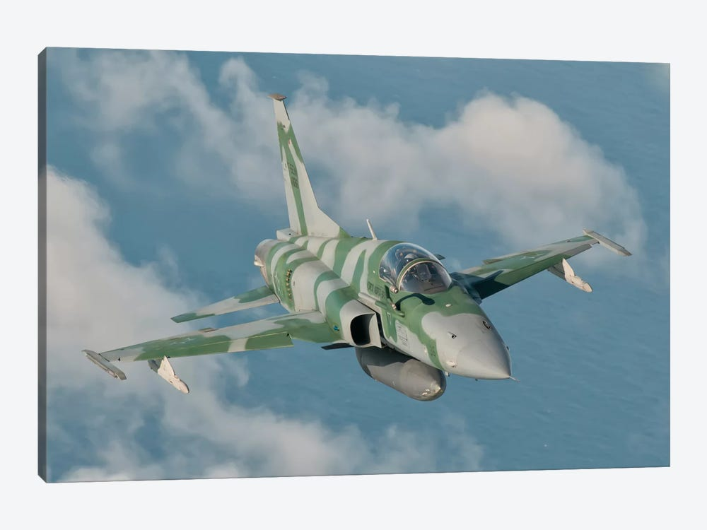 Brazilian Air Force F-5 In Flight Over Brazil by Giovanni Colla 1-piece Canvas Wall Art