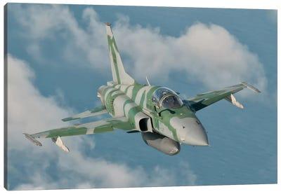 Brazilian Air Force F-5 In Flight Over Brazil Canvas Art Print