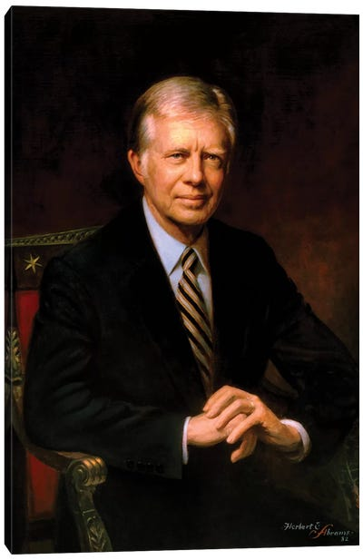 Presidential Portrait Of Jimmy Carter Canvas Art Print