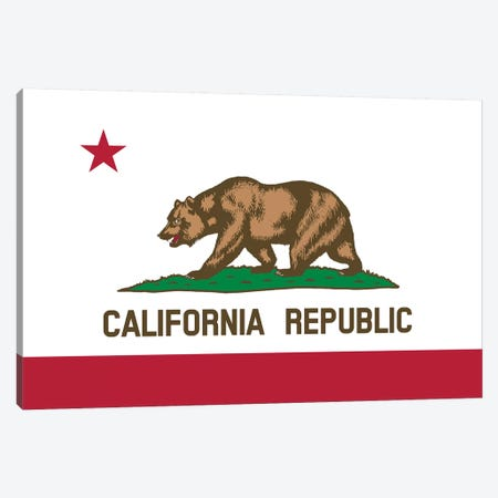 The Bear Flag, State Of California Canvas Print #TRK2821} by John Parrot Canvas Art