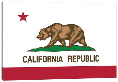 The Bear Flag, State Of California Canvas Art Print
