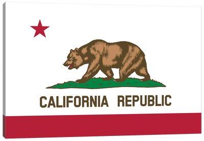 The Bear Flag, State Of California Canvas Art Print