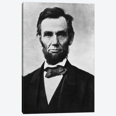Vintage American Civil War Photo Of President Abraham Lincoln Canvas Print #TRK2823} by John Parrot Canvas Wall Art