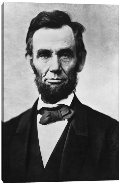 Vintage American Civil War Photo Of President Abraham Lincoln Canvas Art Print