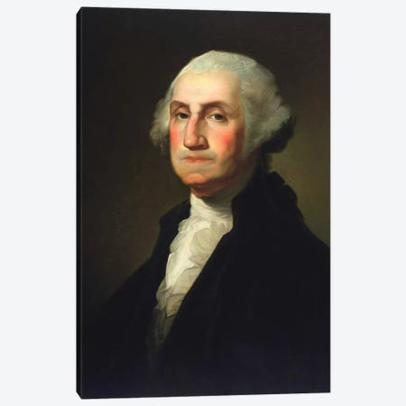 Vintage American History Painting Of President George Washington Canvas Print #TRK2824} by John Parrot Art Print