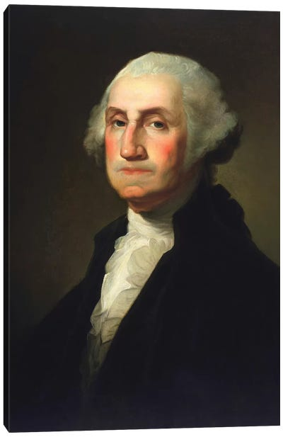 Vintage American History Painting Of President George Washington Canvas Art Print