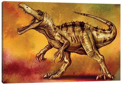 Baryonyx walkeri dinosaur painting. Canvas Art Print