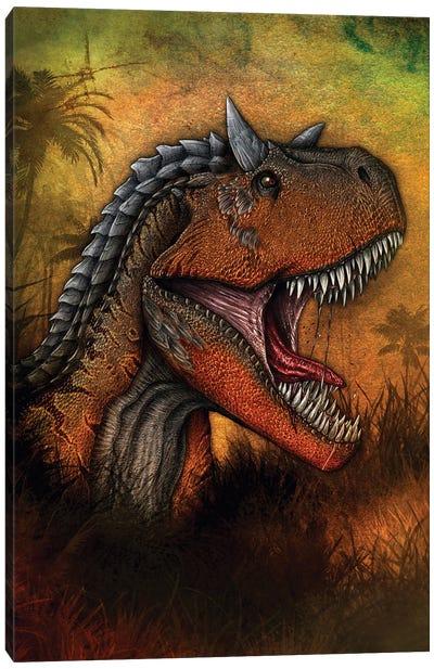 Carnotaurus dinosaur portrait. Canvas Art Print