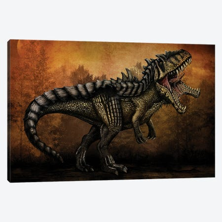 Hybridized Giganotosaurus dinosaur. Canvas Print #TRK2835} by Aram Papazyan Canvas Wall Art