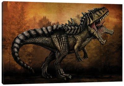 Hybridized Giganotosaurus dinosaur. Canvas Art Print