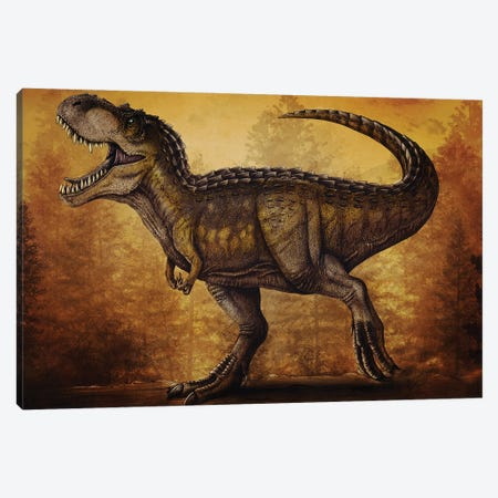 Magnatyrannus dinosaur. Canvas Print #TRK2837} by Aram Papazyan Canvas Art
