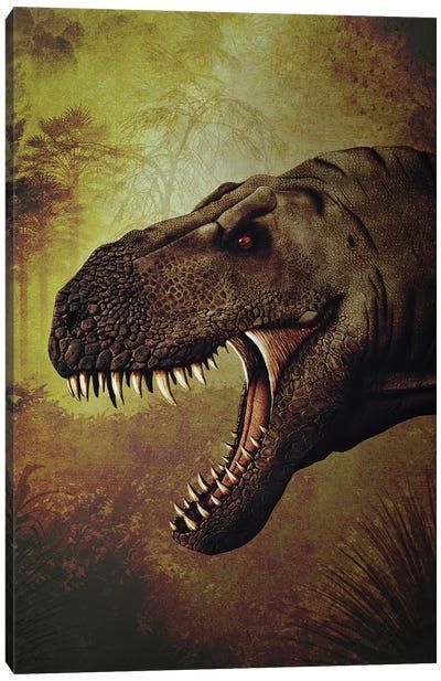 T-rex portrait. Canvas Art Print