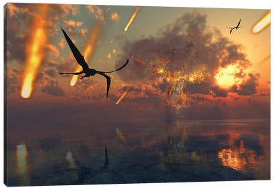 The Cretaceous Paleogene Extinction Event. Canvas Art Print