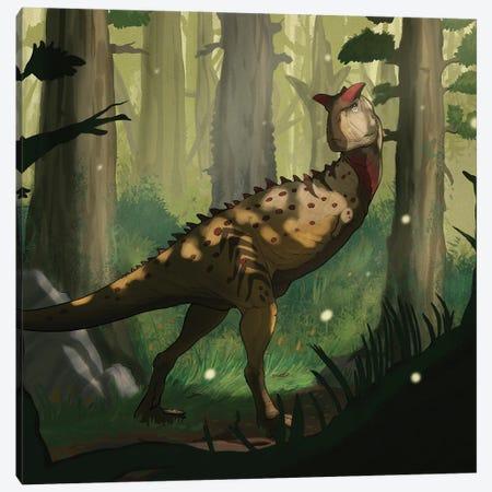 A Carnotaurus dinosaur in a forest. Canvas Print #TRK2855} by Paulo Leite da Silva Canvas Art