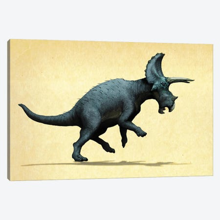 Lateral view of a Triceratops. Canvas Print #TRK2856} by Paulo Leite da Silva Canvas Wall Art