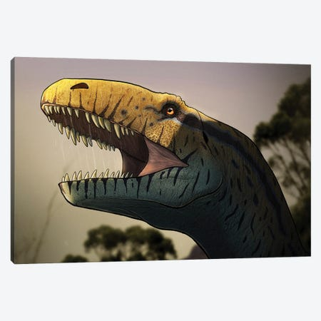 Portrait of a Megalosaurus dinosaur. Canvas Print #TRK2857} by Paulo Leite da Silva Canvas Wall Art