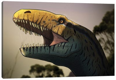 Portrait of a Megalosaurus dinosaur. Canvas Art Print