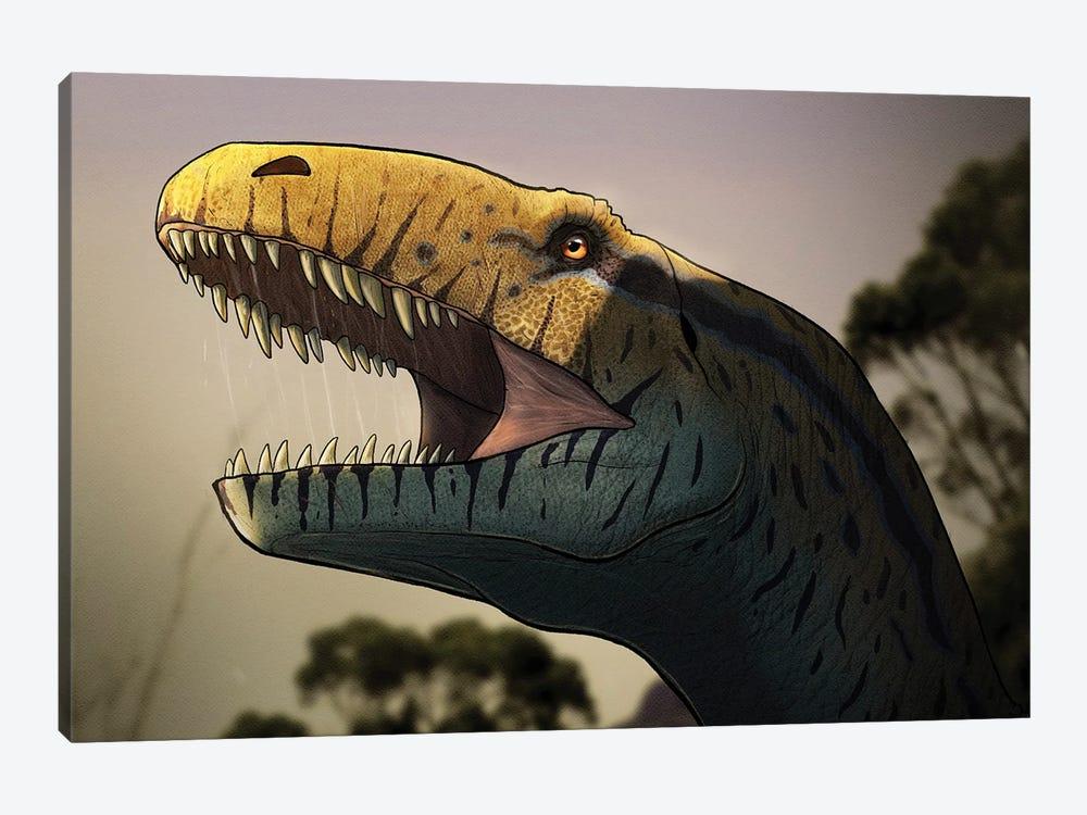 Portrait of a Megalosaurus dinosaur. by Paulo Leite da Silva 1-piece Canvas Artwork