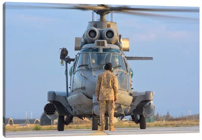 Royal Saudi Air Force AS532 Cougar CSAR Helicopter Canvas Art Print