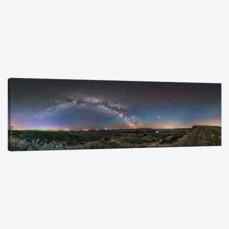 360 Degree Panorama Of The Arch Of The Milky Way Over The Red Deer River Valley, Canada. Canvas Print #TRK2864} by Alan Dyer Canvas Print
