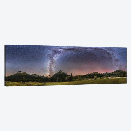 360 Degree Panorama Of The Milky Way At Red Rock Canyon In Canada. Canvas Print #TRK2865} by Alan Dyer Art Print