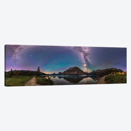 A 360 Degree Panorama Of Bow Lake In Banff National Park, Alberta, Canada. Canvas Print #TRK2868} by Alan Dyer Canvas Wall Art