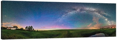 A 360 Degree Panorama Of The Summer Solstice Sky In Southern Alberta, Canada. Canvas Art Print