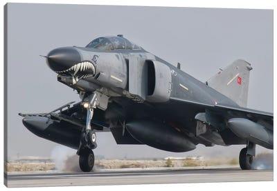 Turkish Air Force F-4 Phantom Landing At Konya Air Base Canvas Art Print