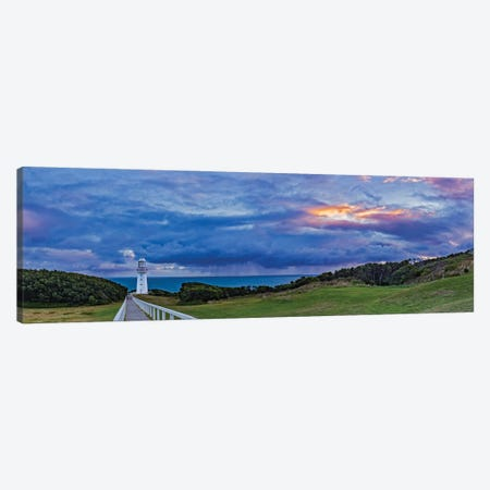 A Cloudy Sunset At Cape Otway Lighthouse On The Great Ocean Road, Victoria, Australia Canvas Print #TRK2880} by Alan Dyer Canvas Artwork