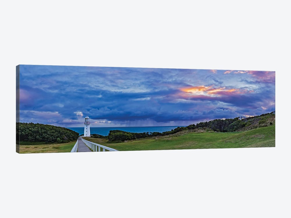A Cloudy Sunset At Cape Otway Lighthouse On The Great Ocean Road, Victoria, Australia by Alan Dyer 1-piece Canvas Artwork